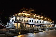 The Georgia Queen at Dock for the Night. (bobchesarek) Tags: riverboat georgiaqueen savannahga dock
