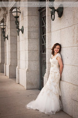 Leaning Against the Stones (Laura K Bellamy) Tags: wedding weddings bride bridal portraits woman