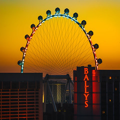 All Night and All Morning (Thomas Hawk) Tags: ballys cosmopolitan cosmopolitanhotel cosmopolitanlasvegas ferriswheel lasvegas linq nevada thecosmopolitanhotel thecosmopolitanlasvegas thecosmopolitanoflasvegas usa unitedstates unitedstatesofamerica vegas neon sunrise fav10 fav25 fav50 fav100