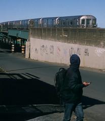 NY Streetscapes 837 (stevensiegel260) Tags: newyork southbronx street subway elevatedsubway train number6subway thebronx pedestrian