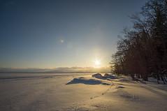 Joensuu - Finland (Sami Niemeläinen (instagram: santtujns)) Tags: joensuu suomi finland pyhäselkä lake järvi sunset auringonlasku luonto nature winter talvi north carelia pohjoiskarjala kuhasalo snow lumi frozen ice jää