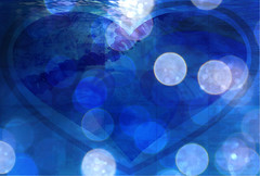 A Love That is Deeper Than The Ocean (soniaadammurray - On & Off) Tags: digitalphotography manipulated experimental collage abstract blue love ocean