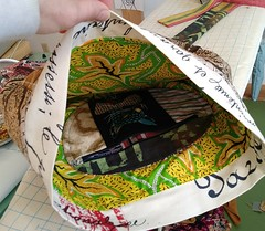 (Danny W. Mansmith) Tags: dannymansmith oneofakind handmade characterbag wearableart details fiberart wwwdannymansmithetsycom madetoorder burienwashington pocket lined upholsteryfabric colorful artistlife