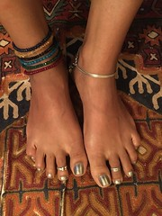 jeweled anklets from Reema (olive witch) Tags: abeerhoque bangladesh bd day dhaka feet indoors jan18 january me portrait
