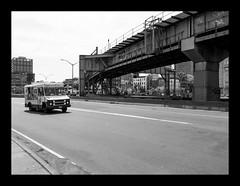 160514_1269_160514 110656_oly_S1_New York (A Is To B As B Is To C) Tags: aistobasbistoc usa newyorkstate newyork roadtrip travel olympus stylus1s bw blackwhite blackandwhite monochrome williamsburg williamsburgbridge brooklyn street bridge car truck icecream softicecream williamsburgbridgebicyclepath s5thst city urban