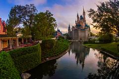 Magic Kingdom Sunrise (MarcStampfli) Tags: cinderellacastle disney florida libertysquare magickingdom nikond3200 themeparks vacationkingdom wdw waltdisneyworld