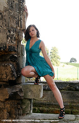 Claudia3863me (sensualimages) Tags: sensualimagesphotography sensual woman lady girl claudia sexy young student ruins bluedress abbey outdoor portrait brunette