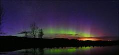 Amazing Scotland (McRusty) Tags: aurora borealis northern lights dell estate stratherrick highland scotland lochan reflection natural phenomenon outdoor beauty
