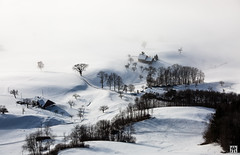 farmland (yves_matiegka) Tags: switzerland jura winter naturparkthal fog mist sun sunrise mountains snow ice light