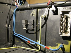 Me109 G2  WrkNr 14055  NI + BY (flyhistorie) Tags: detaljer interiør kokpit benzin kraftstoff fuel original restoration jg5 cockpit luftwaffe jærmuseet flymuseum sola messerschmitt bf109 me109 system cables