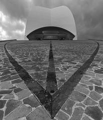 Auditorium (ulrichcziollek) Tags: spanien kanaren kanarischeinseln teneriffa tenerife santacruz calatrava auditorio schwarzweiss blackwhite