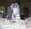 Cutting the wedding cake (vintage ladies) Tags: wedding 80s 80swedding pike kettering 3181985 bride we weddingdress brideandgroom groom
