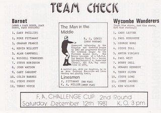 Barnet vs Wycombe Wanderers - 1981 - Page 3