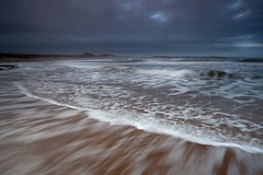 Bright Froth (Julian Barker) Tags: embleton bay low newton dunstanburgh northumberland beach sea ocean north froth brigh highlights dark threatening england great britain uk europe julian barker canon dslr 5d mkii long exposure slow shutter speed