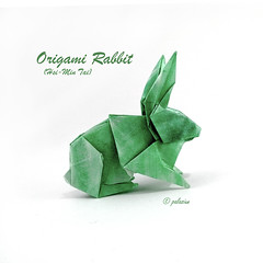 origami rabbit (polelena24) Tags: origami rabbit hare coney easter onesheet square parchment