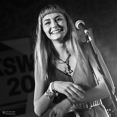 Annalise Azadian @ SXSW 2018 (Kirk Stauffer) Tags: kirk stauffer photographer nikon d5 adorable amazing attractive awesome beautiful beauty charming cute darling fabulous feminine glamour glamorous goddess gorgeous lovable lovely perfect petite precious pretty siren stunning sweet wonderful young female girl lady woman women live music tour concert show gig song sing singer songwriter vocals performer musician band group lights lighting indie pop rb long blonde hair bangs red lips blue eyes white teeth model tall fashion style portrait photo smile smiling black