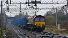 66167 (panmanstan) Tags: class66 ews dbschenker freight loco diesel locomotive train track permanentway actonbridge