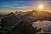 Sunset over Rio de Janiero, as seen from Sugarloaf Mountain (adventurousness) Tags: christtheredeemer christoredentor riodejaneiro sugarloaf brasil brazil dusk hdr rj sunset