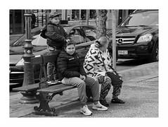 """Mercredi Aprèm' IV"" (The Blue Water Lily's Company) Tags: fdrouet nb bw monochrome monochrom street rue enfant child nikon d90"