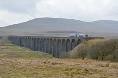 """This Is Northern (37190 """"Dalzell"""") Tags: nr northernrailway arrivarailnorth brelderby 2car class158 ribbleheadviaduct bleamoor"""