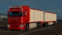 Scania R500 - Cereal Train (Malmöstad) Tags: ets2 euro truck simulator ory farmer farming scania lorry grain cereal swedish svensk sweden long lkw trailer mod mods modding custom game screenshot spannmål bonde