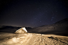 Sweet home (lbencini) Tags: landscape landscapephotography night starrynight stars veneto italy clouds home snow alps dolomites mountains nature nofilter canon calm fantastic wow walking trekking