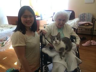 Sophia and Eenie at nursing home