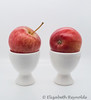 Day 105. (lizzieisdizzy) Tags: table tabletop china apple apples eggcup cup two duo fruit healthy juicy stalk peel skin rosy maluspumila crunchy sweet