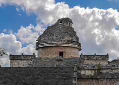 Observatory (Adaptabilly) Tags: mexico yucatán ruins travel mayan sky mx archaeology chichenitza tree stairs architecture clouds lumixgx7