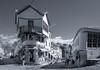 Gjirokastër (judepics) Tags: splittone albania bw blackwhite gjirokastër ll people shops street