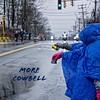 Marathon cowbell (mgstanton) Tags: bostonmarathon bostonstrong marathon weather rain wind run runners cowbell noise race spectator poncho