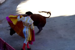 painting with a photo (aficion2012) Tags: arles france francia corrida toros bull bullfight provence matador torero tauromaquia tauromachie el freixo feria paques 2018 juanbautista juan bautista capa capote