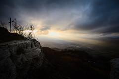 Landscape #2 (Strocchi) Tags: landscape paesaggio ray raggio sun sole tramonto sunset sky cielo clouds nuvole canon eos6d 24105mm croce cross