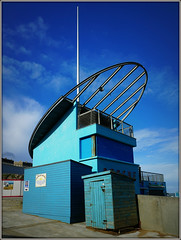 Ramsgate Blues (Jason 87030) Tags: lifeguard station post rescue blue blues sky weather april 2018 sunny light hut shed cafe beach sand kent ramsgate thanet uk england color colour modern twist greatbritain sony ilce alpha a6000 lens tag nex fave album seaside holiday