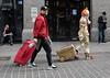 In transit (Wendy G Davies) Tags: performer clown urban street chinatown london