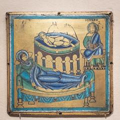 Plaque with Nativity (Nick in exsilio) Tags: newyork unitedstates us champlevé enamel copper alloy gilt nativity mary joseph jesus manger crib
