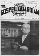 Gospel Guardian 1968 (Brett Streutker) Tags: rutherfordcountytennessee lutheran methodist episcopal assemblies apostolic fundamentalist nostalgia antique school religion time old israeli israel palastine joseph mary diciples apostles samaria jerusalem bethlehem brirth passover christmas herod thus version international standard american new james king moody seminary conference epistles gospels john enemy devil satan antichrist son tribulation revelation study verse psalm tent meeting gospel evangelical saved again born jehovah yahweh god rapture scriptures bible he made creationism creation science jesus creator christ easter 2017 stars
