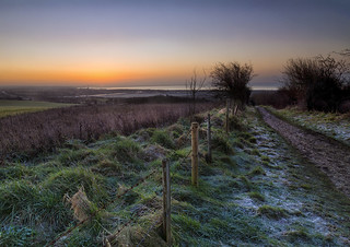One cold and frosty sunrise