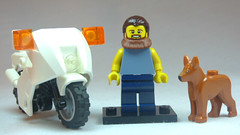 Brick Yourself Custom Lego Figure Cheerful Biker Chap