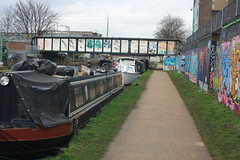 Canal Tow Path (lazy south's travels) Tags: london england english britain british uk river canal tow path barge boat streetart graffiti urban capital city