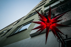 Even though they're not here (Melissa Maples) Tags: münchen munich deutschland germany europe nikon d3300 ニコン 尼康 sigma hsm 1020mm f456 1020mmf456 winter holidays decorations christmas star red