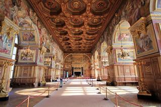 Fontainebleau France : La salle de bal du Château, the ballroom of the Castle,  der Tanzsaal des Schlosses. On explore.