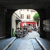 Dijon France (Clare-White) Tags: dijon france resturant arch shape tables builiding street