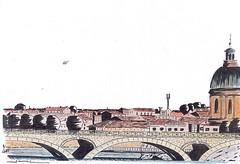 Toulouse (J-M.I) Tags: aquarelle art house architecture hautegaronne 31 toulouse watercolour aveyron 12 dessin illustration graphisme aubrac vines castelginest artiste exposition crayonsdecouleur encredechine