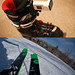 Attach SONY FDR-X3000 to Ski boots.