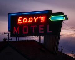 Eddy's (I. M. Pist) Tags: montana motel hotel neon sign old overnight room sunset
