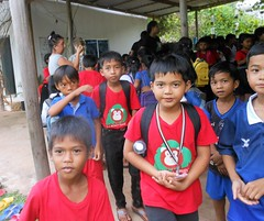 A big wave of children (rodeochiangmai) Tags: cambodia children students kepcambodia school kids