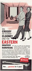 Celebrity Endorsements Through the Ages: Bing Crosby and Rosemary Clooney Shill for Drapery Hardware, 1961 (Guy Clinch) Tags: celebrity advertisement