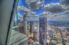 View From the Top (Michael F. Nyiri) Tags: downtownlosangeles wilshiregrand skyscraper skyline clouds cloudscapes sky usbanktower losangeles la california southerncalifornia cityscape city