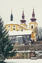 Snowfall (alkovalda) Tags: snow snowfall church cathedral christ winter town city architecture